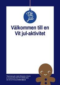 Affisch till Vit jul-aktivitet