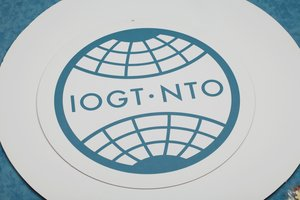 Skylt IOGT-NTO (papp)