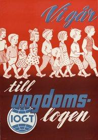 Affisch - Vi går till ungdomslogen
